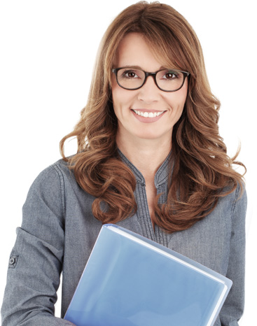 Office Woman Wearing Glasses